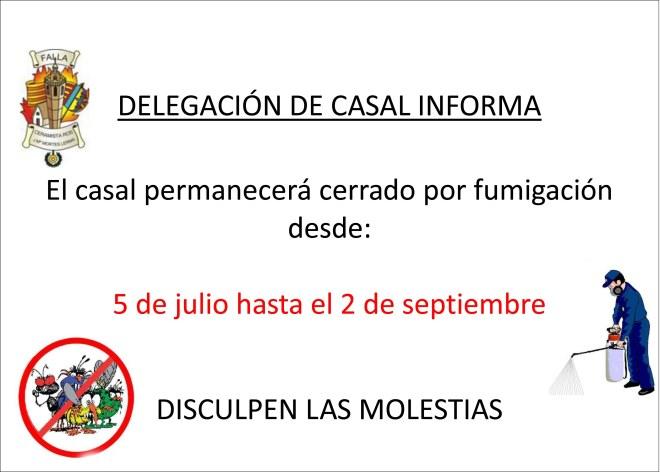 HORARIO CASAL fumigacion
